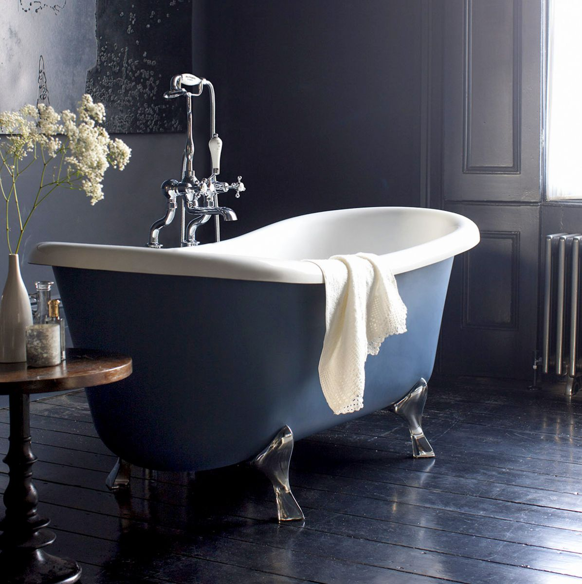 Burlington Bateau Freestanding Roll Top Bath Uk Bathrooms