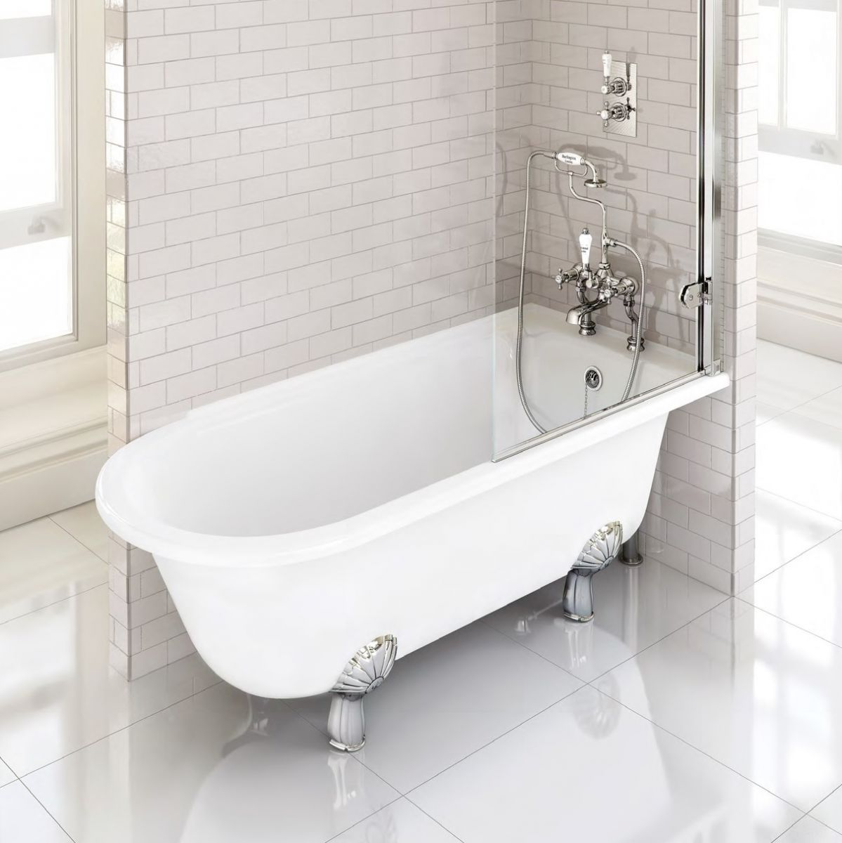 burlington hampton traditional shower bath uk bathrooms burlington hampton traditional shower bath