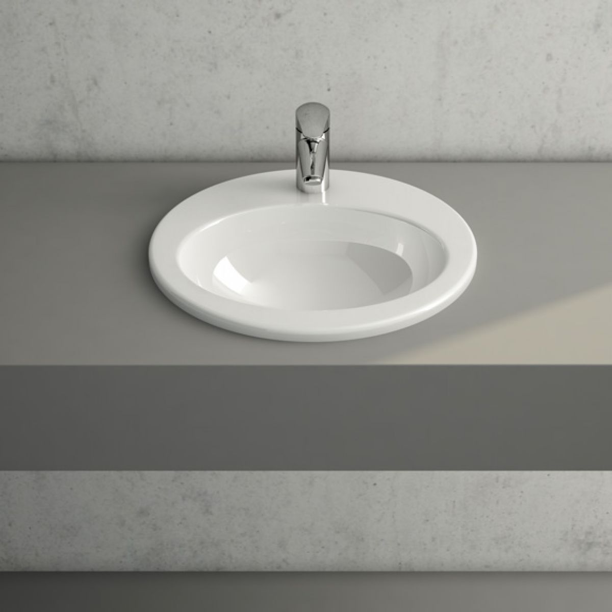 VitrA S10 Round Inset Basin : UK Bathrooms