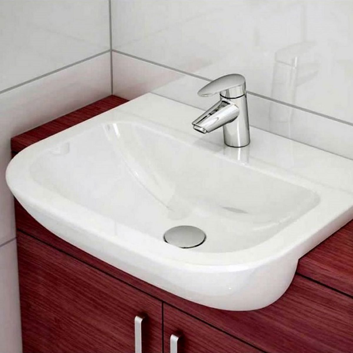 Vitra S20 Semi Recessed Washbasin