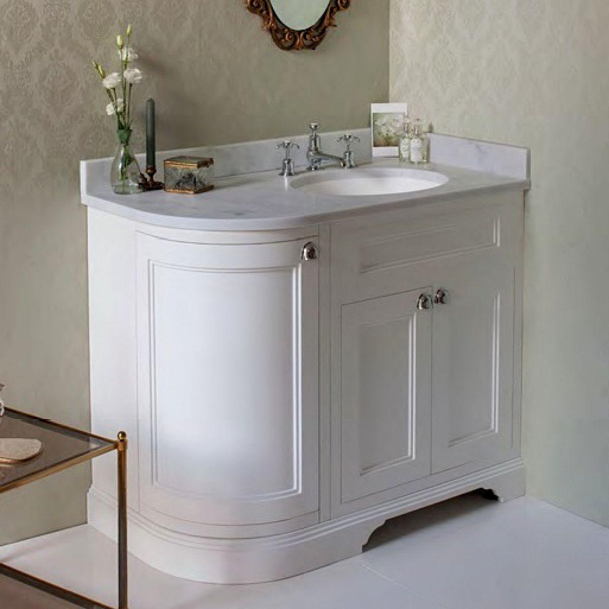 Burlington 100 Curved Vanity Unit : UK Bathrooms