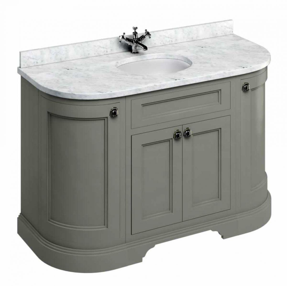 burlington 134 curved vanity unit with double doors uk bathrooms
