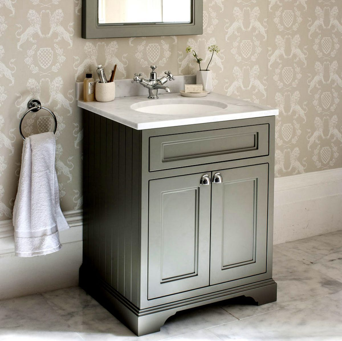 Burlington 65 Floorstanding Vanity Unit with Two Doors ...