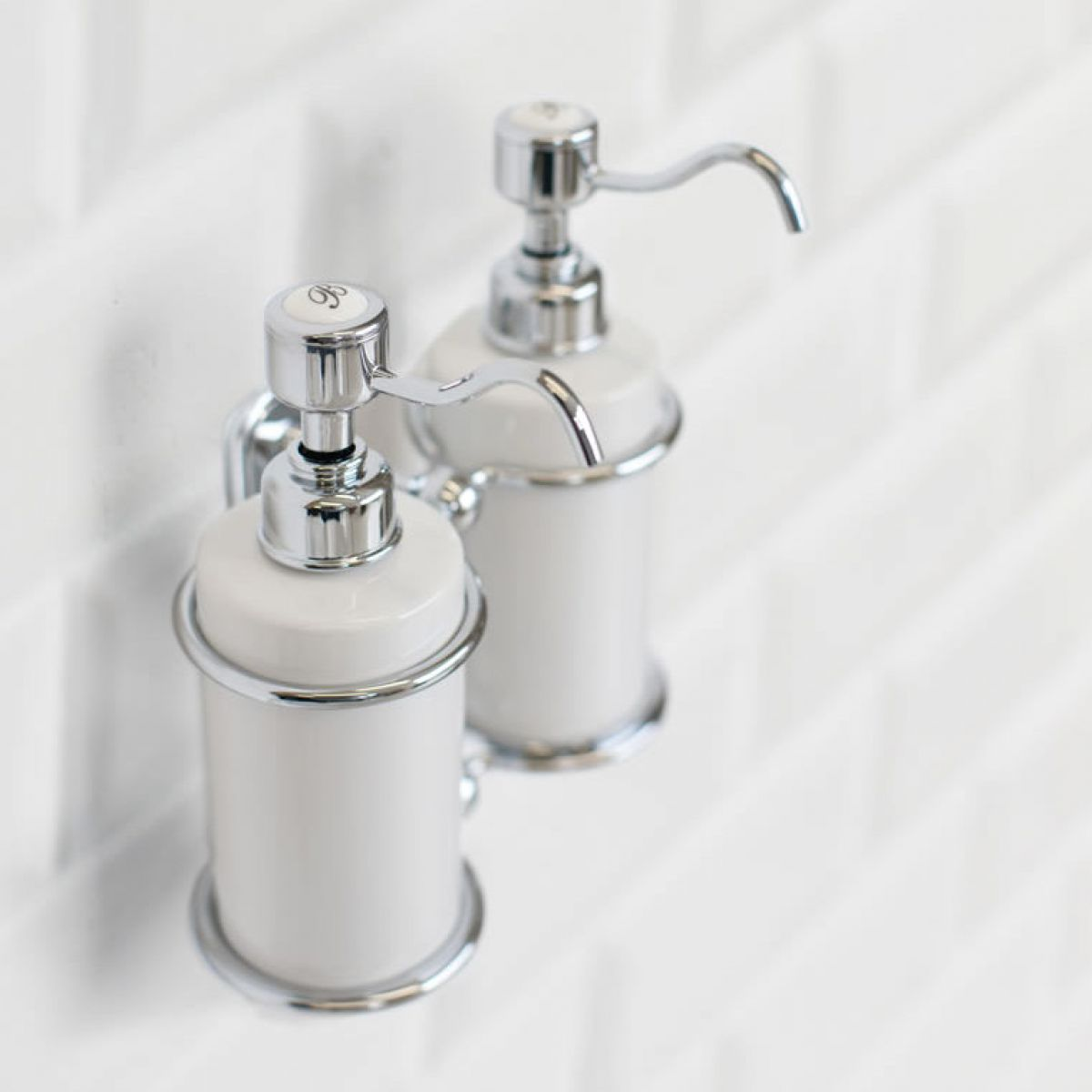 Burlington Traditional Double Liquid Soap Dispenser Uk