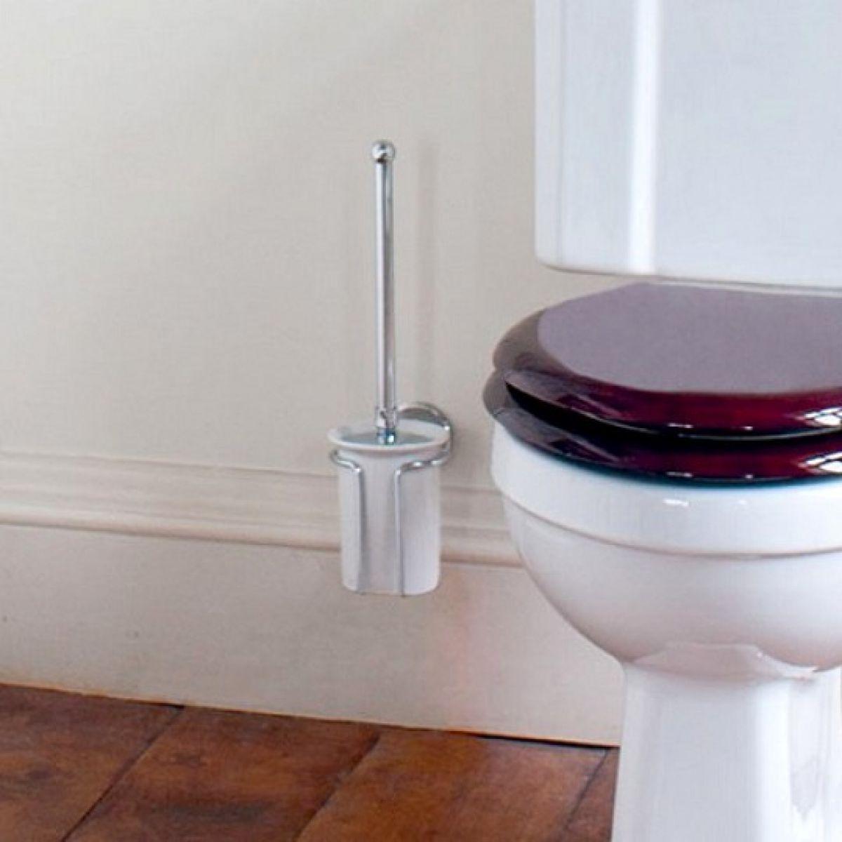 Burlington Wall Mounted Toilet Brush Set Uk Bathrooms