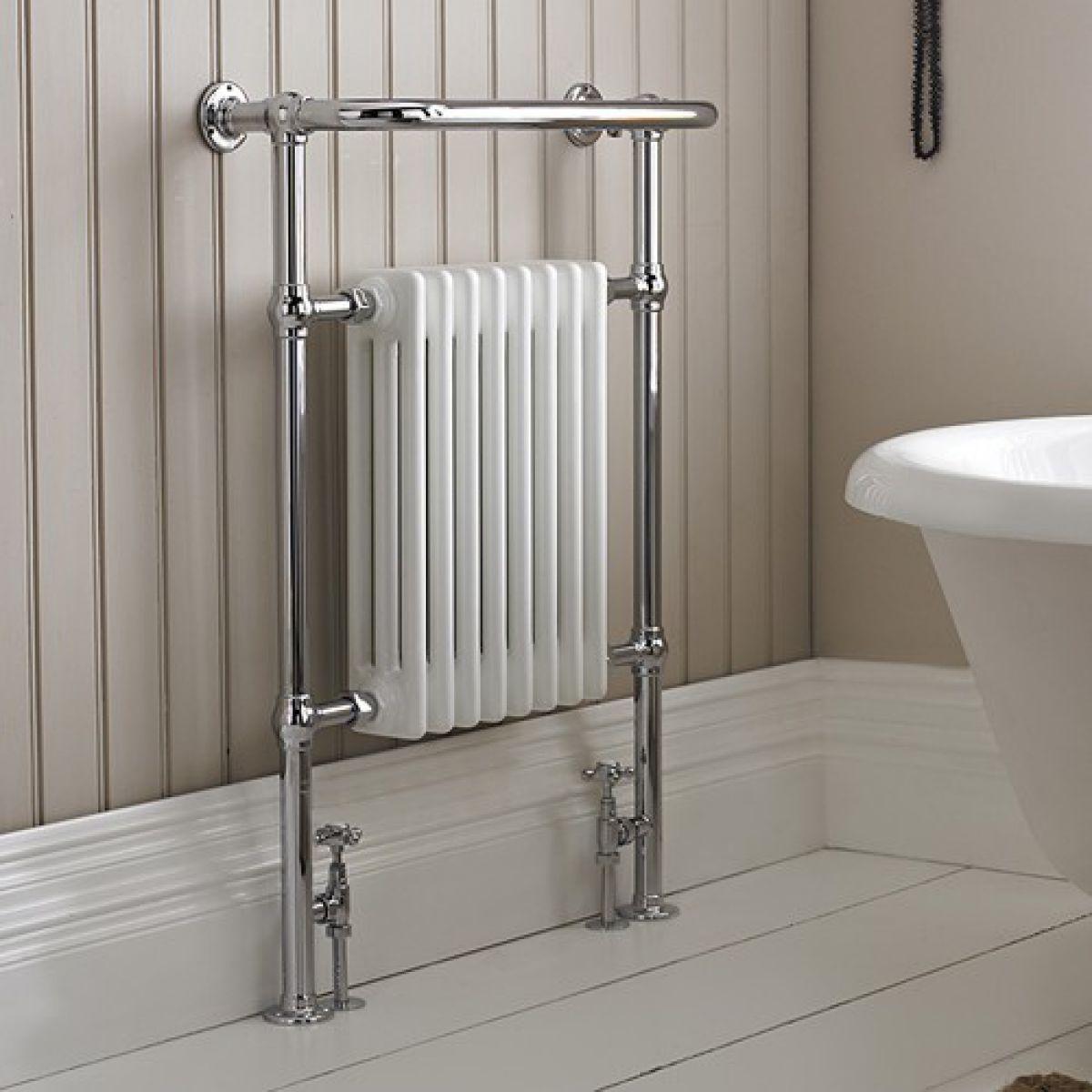 Burlington Trafalgar Towel Warming Radiator Set R1chr R6chr Uk Bathrooms