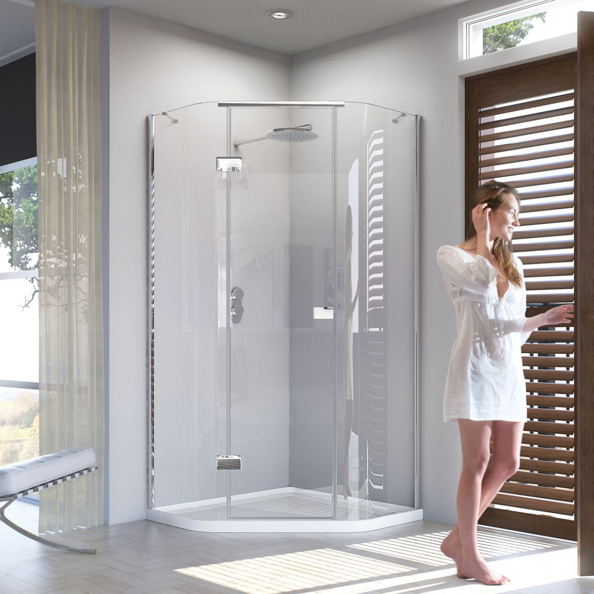 Matki Illusion Quintesse Shower Enclosure with Integrated Shower ...