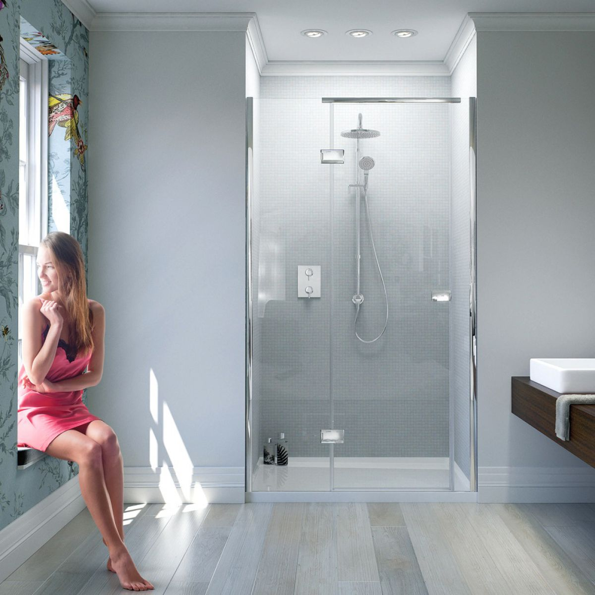 Matki New Illusion Recess Shower Enclosure with Integrated Tray : UK ...