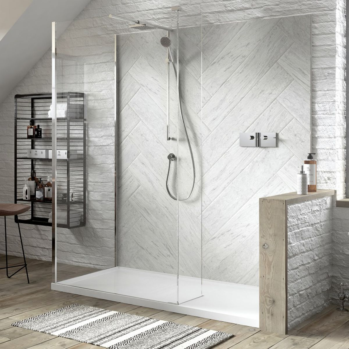 Matki Boutique Walk In Corner Shower Enclosure