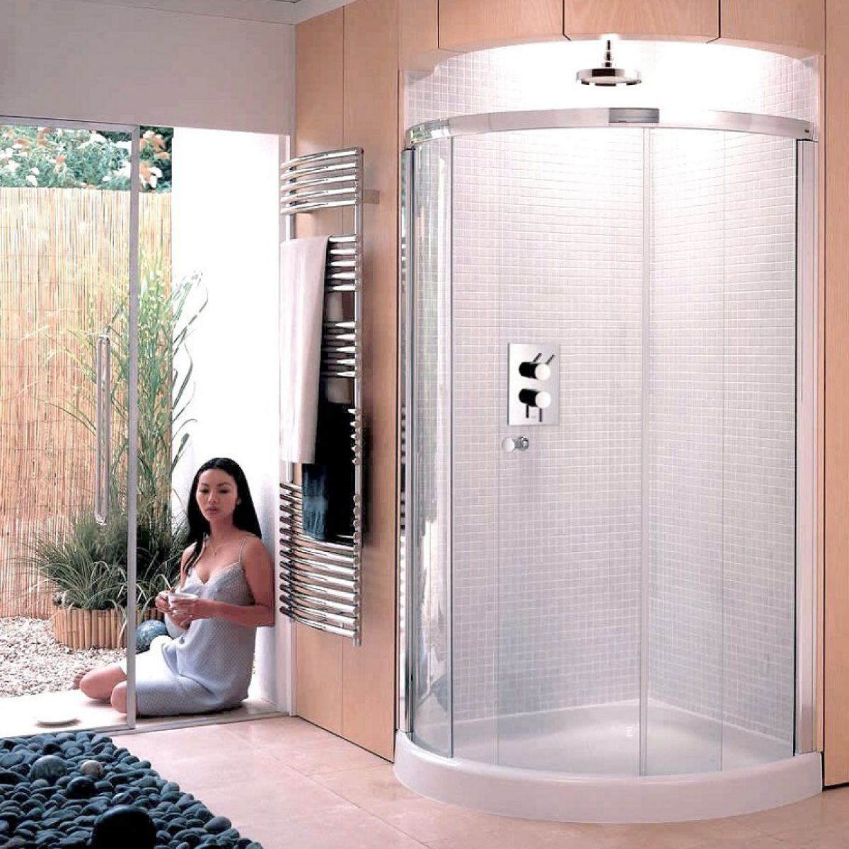 Matki Radiance Curved Corner Shower Enclosure : UK Bathrooms