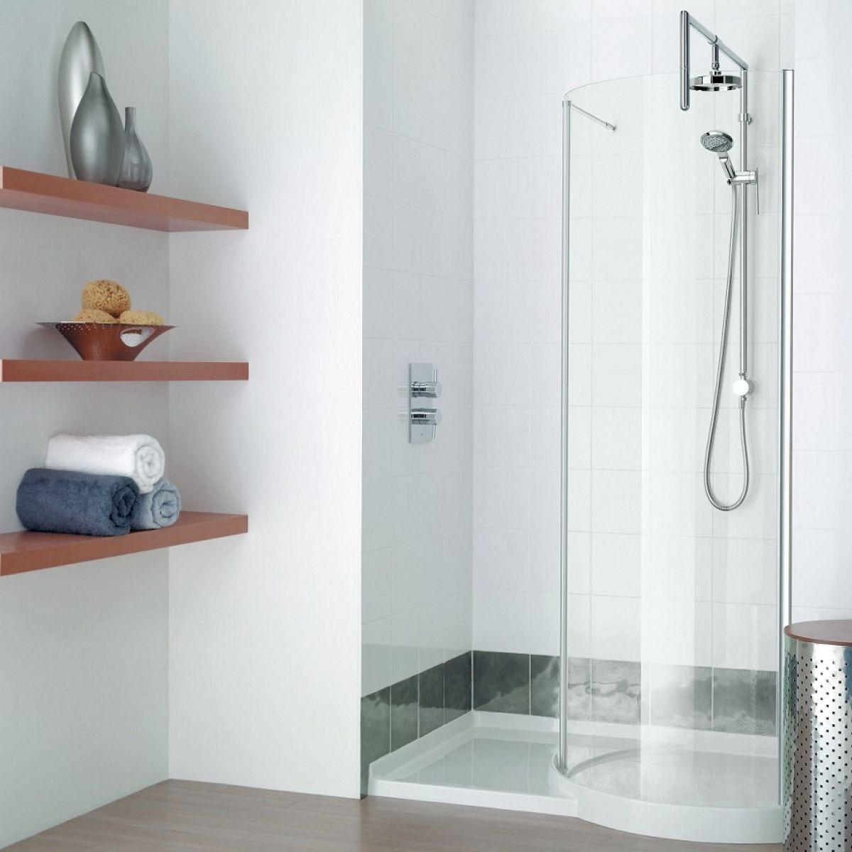 Walk In Shower Designs Uk Part - 48: Matki Original 1200 Walk-in Curved Recess Shower Enclosure
