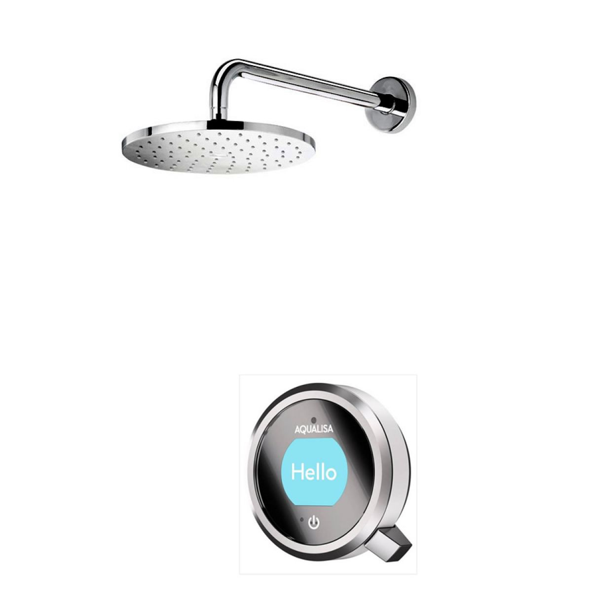 Aqualisa Q Smart Concealed Shower with Wall Mounted Fixed Head ...