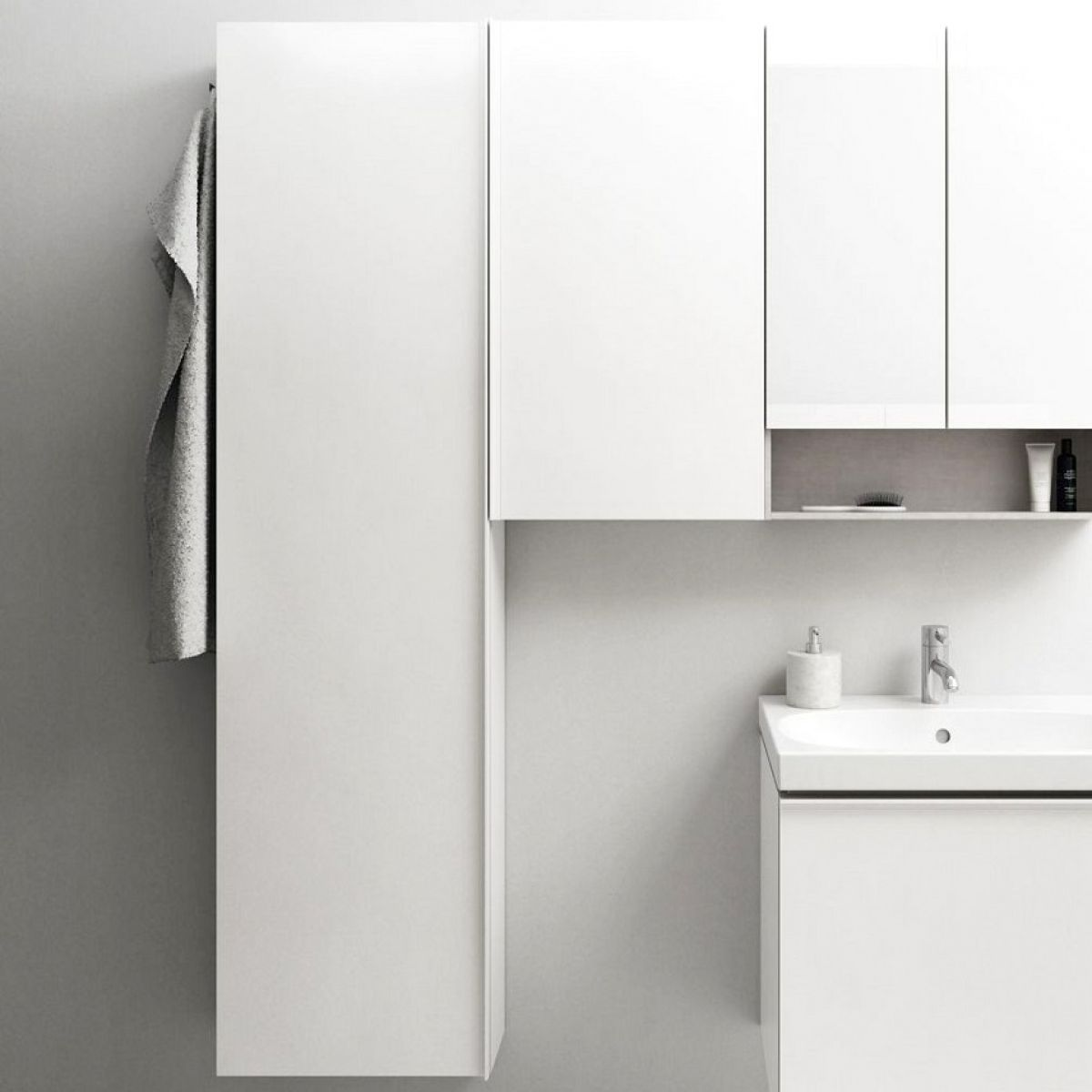 Geberit Acanto 173cm Tall Cabinet With One Door Uk Bathrooms