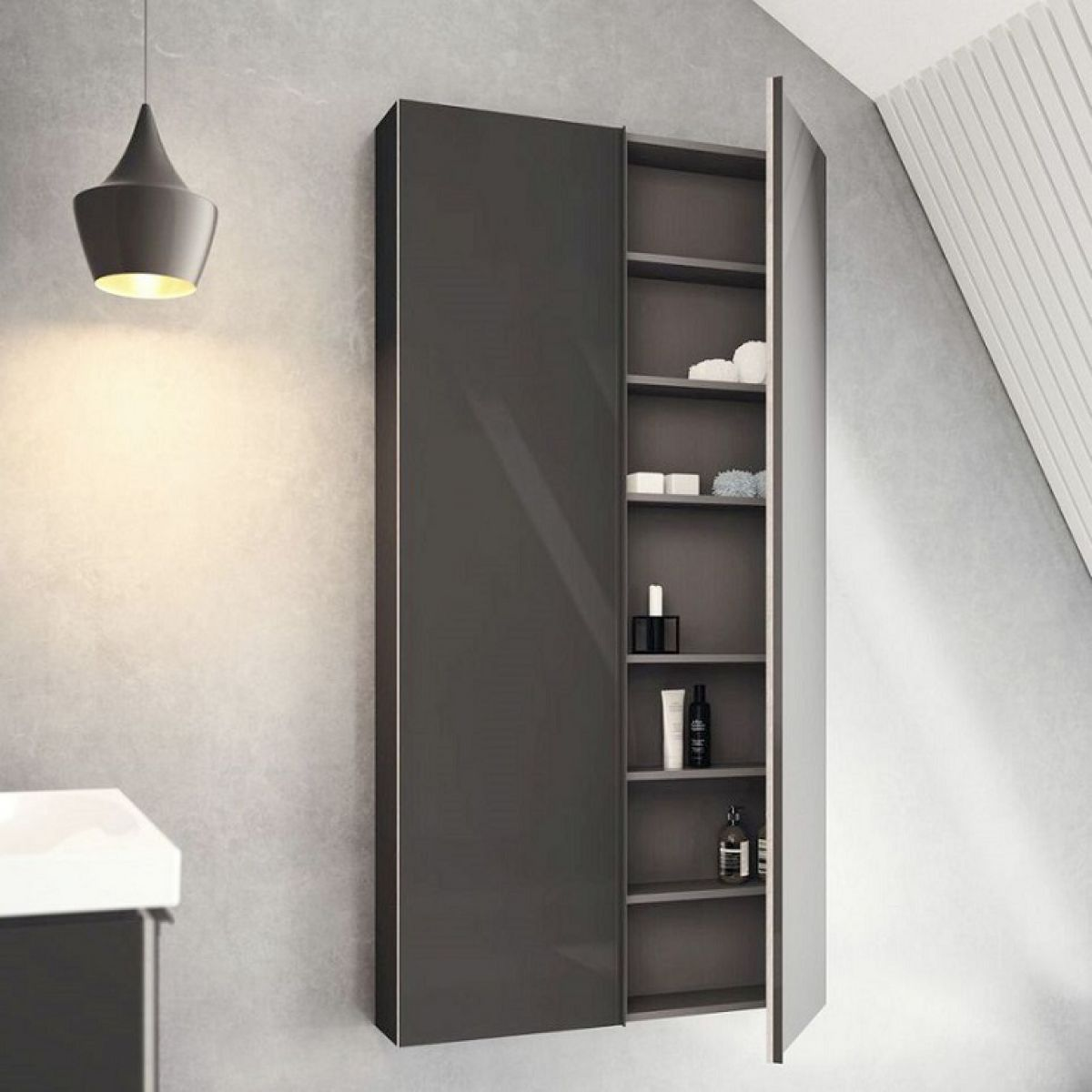 Geberit Acanto 173cm Tall Cabinet With Two Doors