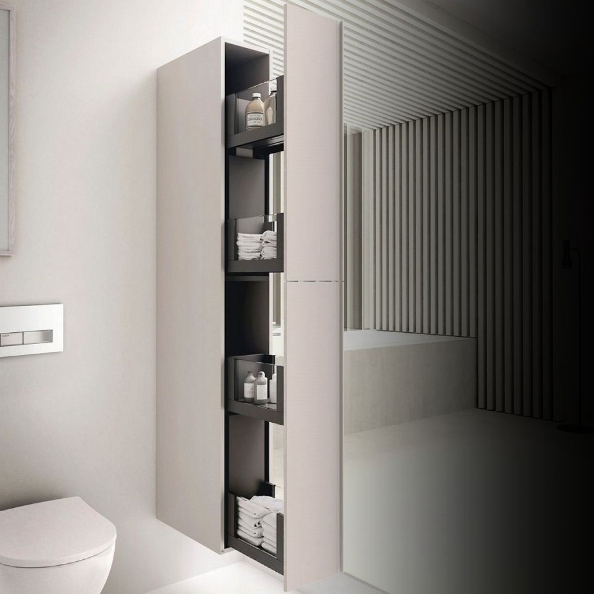 Geberit Acanto 173cm Tall Cabinet With Pull Out Storage