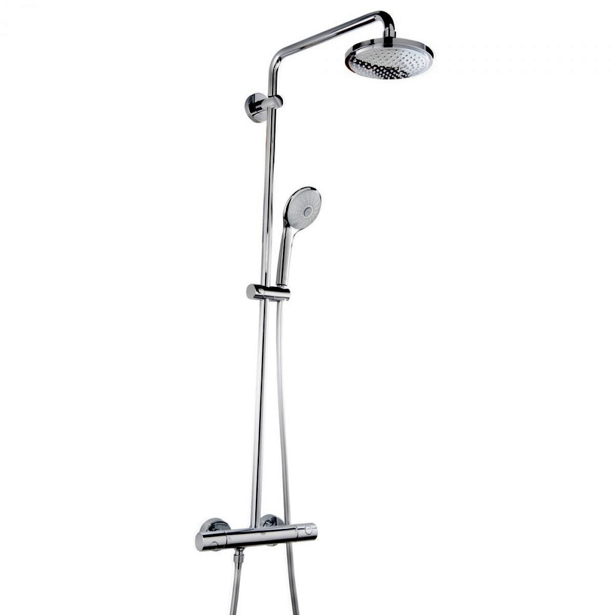 grohe euphoria 180 thermostatic shower system uk bathrooms. Black Bedroom Furniture Sets. Home Design Ideas