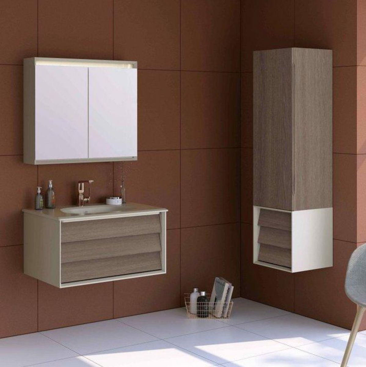 Vitra Frame Tall Unit With Drawer Uk Bathrooms
