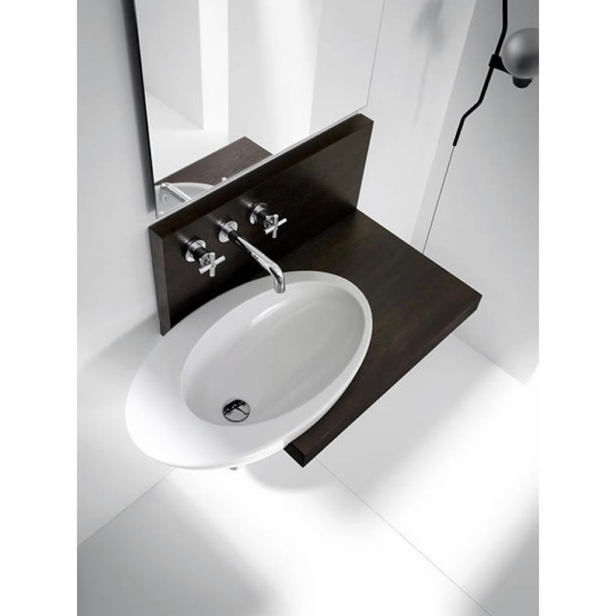Cibo uber 1200 wall hung vanity from reece - Roca Eliptic Wall Hung Basin A327426000 Uk Bathrooms