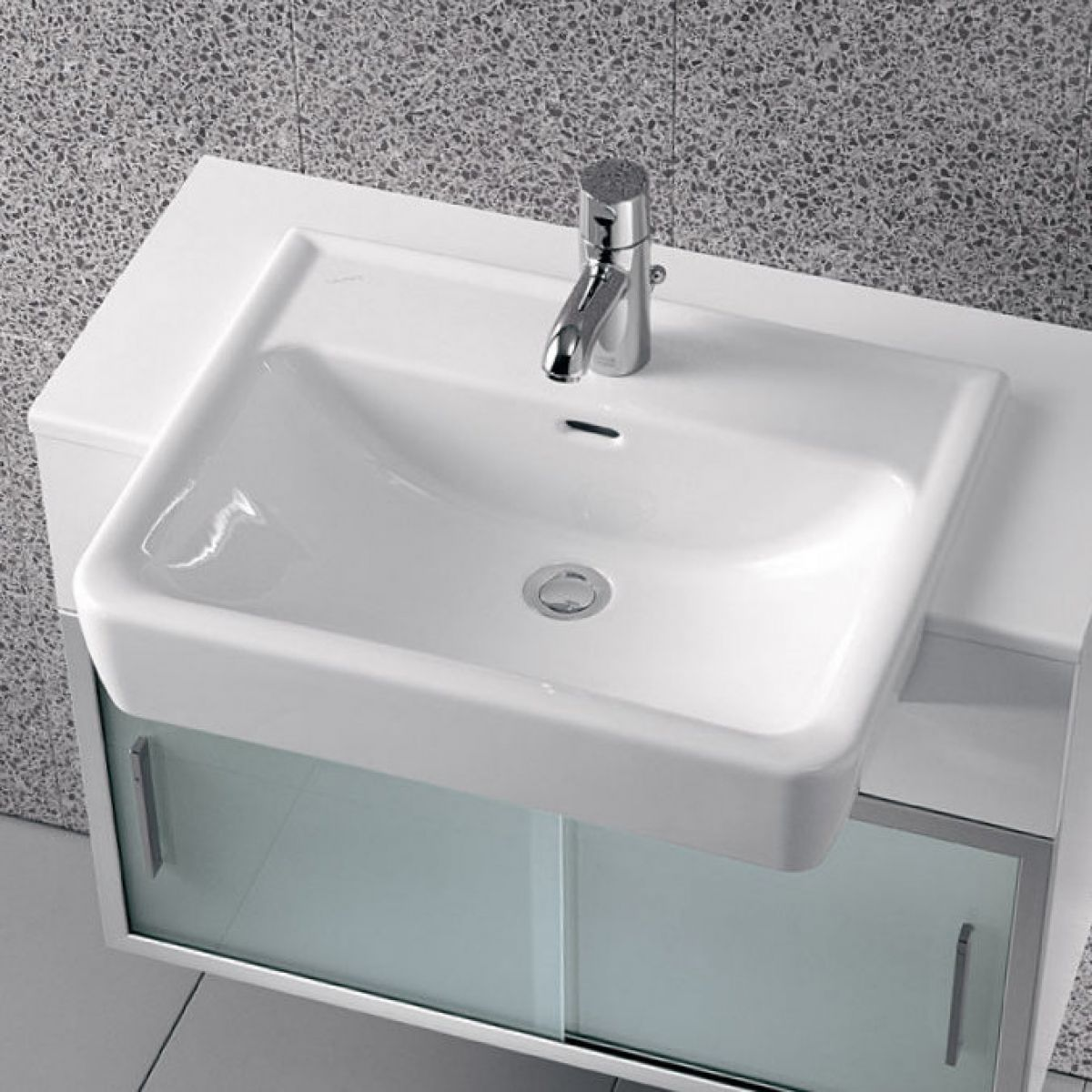 laufen pro a semi recessed basin uk bathrooms. Black Bedroom Furniture Sets. Home Design Ideas