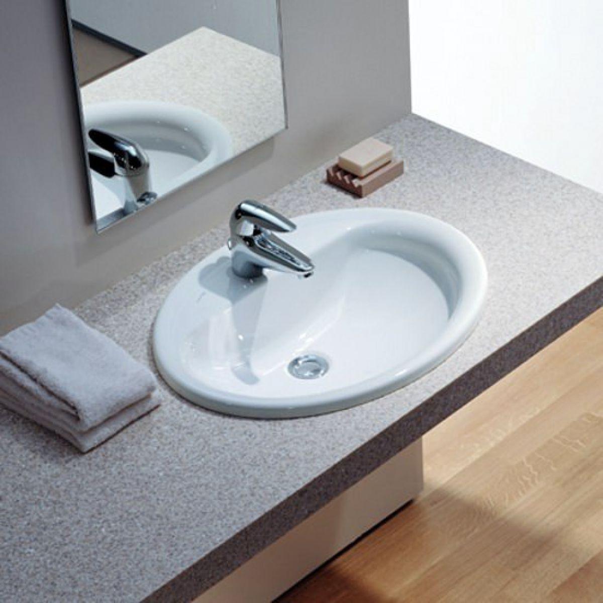 laufen pro b drop in washbasin uk bathrooms. Black Bedroom Furniture Sets. Home Design Ideas