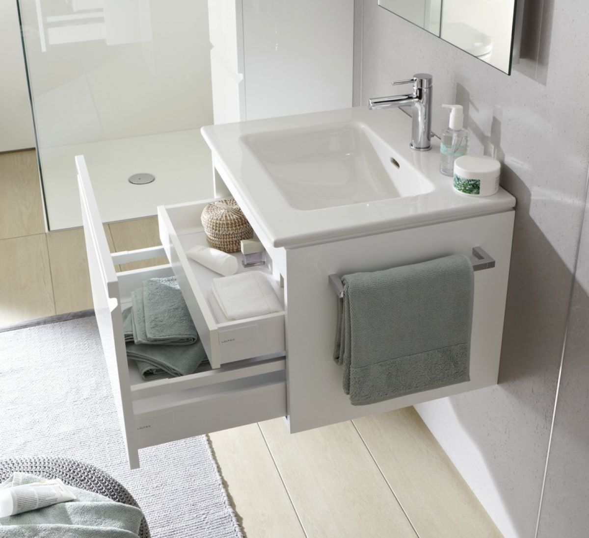 Laufen Pro S Single Drawer Vanity Unit Amp Slim Basin Uk Bathrooms