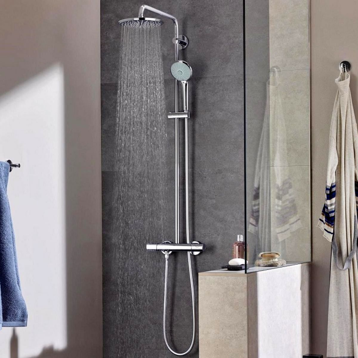 Grohe Euphoria 180 Thermostatic Shower System : UK Bathrooms