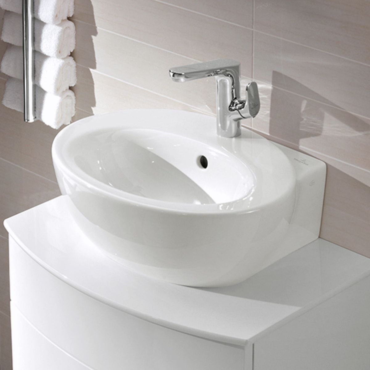 v b aveo new generation oval washbasin uk bathrooms. Black Bedroom Furniture Sets. Home Design Ideas