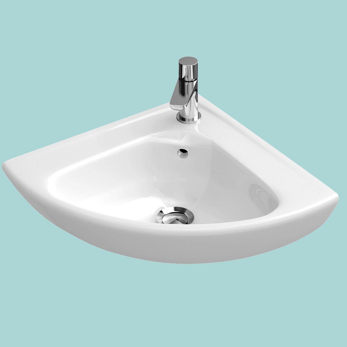 v b o novo compact corner basin uk bathrooms. Black Bedroom Furniture Sets. Home Design Ideas