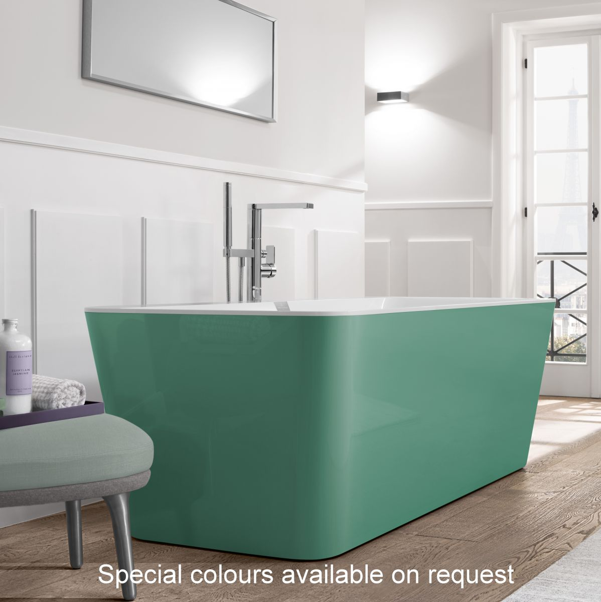 V&B Squaro Edge 12 Freestanding Bath : UK Bathrooms