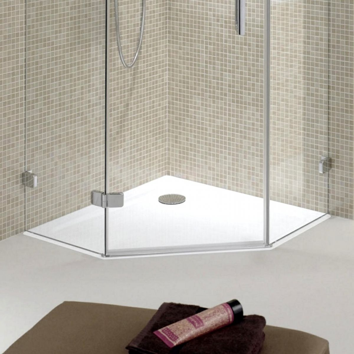 picture of a pentagonal shower tray