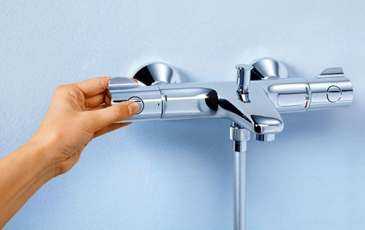 Grohe Grohtherm 800 Thermostatic Bath Shower Mixer Tap : UK Bathrooms