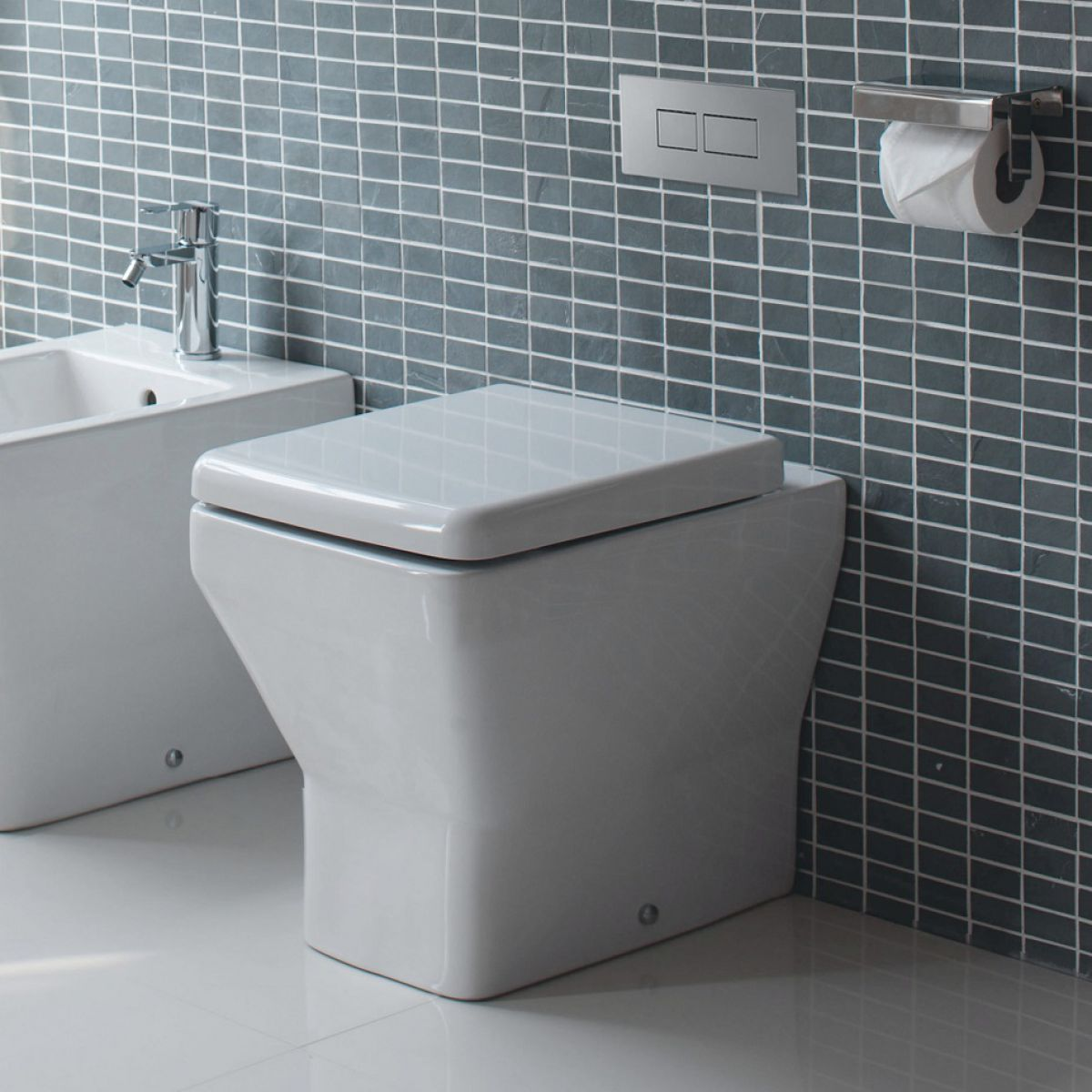 Britton Cube Floor Standing Toilet : UK Bathrooms