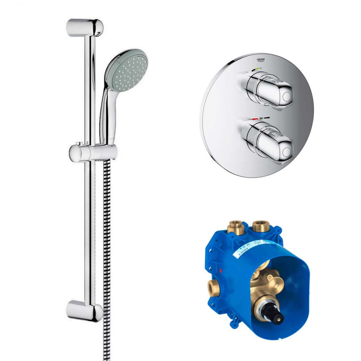 Concealed Shower Room Steam Room Thermostatic Valve: Grohe Grohtherm 1000 Shower Set With Concealed