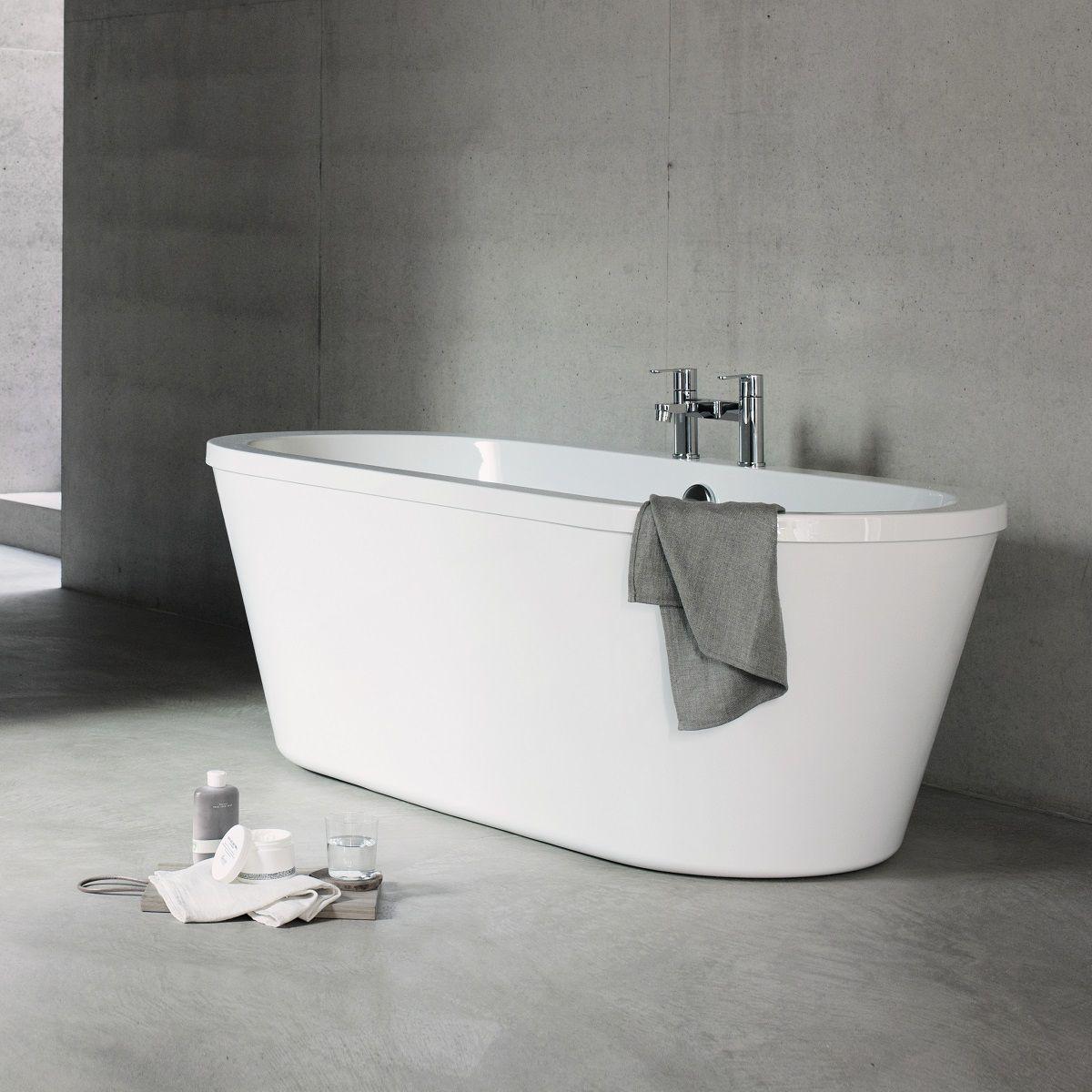 Cleargreen Freestark Double Ended Freestanding Acrylic Bath : UK ...