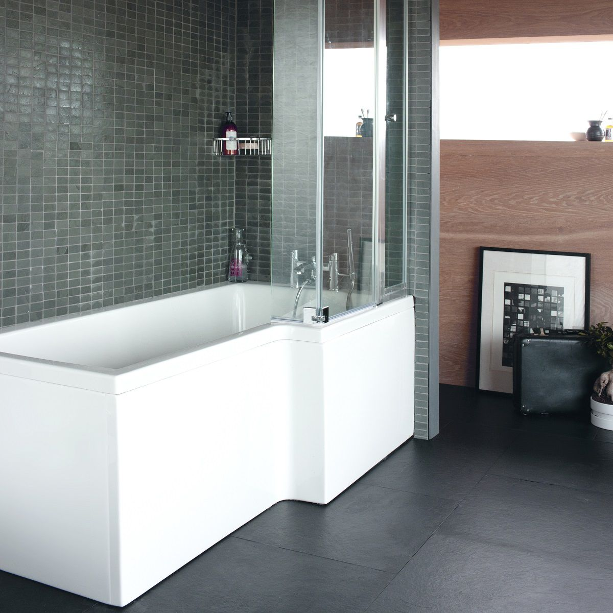 ClearGreen Ecosquare Contemporary Shower Bath : UK Bathrooms