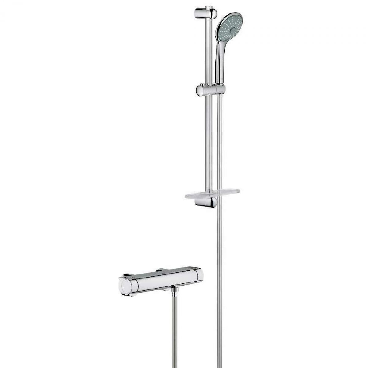 Grohe Grohtherm 2000 Thermostatic Shower Mixer with Euphoria Shower Set : UK Bathrooms