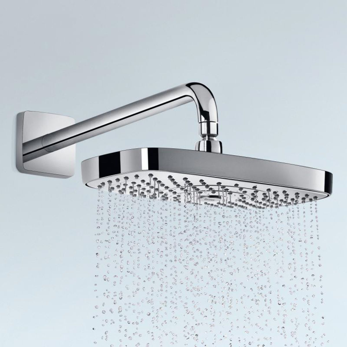 hansgrohe raindance select e 300 2jet shower head with arm uk bathrooms. Black Bedroom Furniture Sets. Home Design Ideas