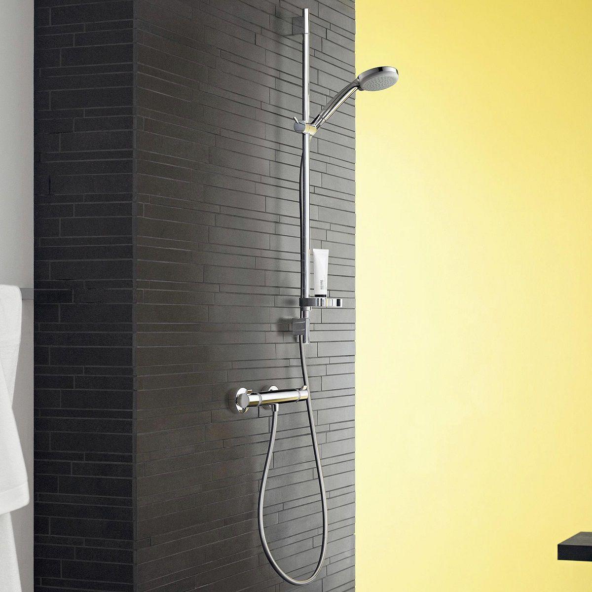 hansgrohe croma 100 vario ecostat comfort combi shower set uk bathrooms. Black Bedroom Furniture Sets. Home Design Ideas