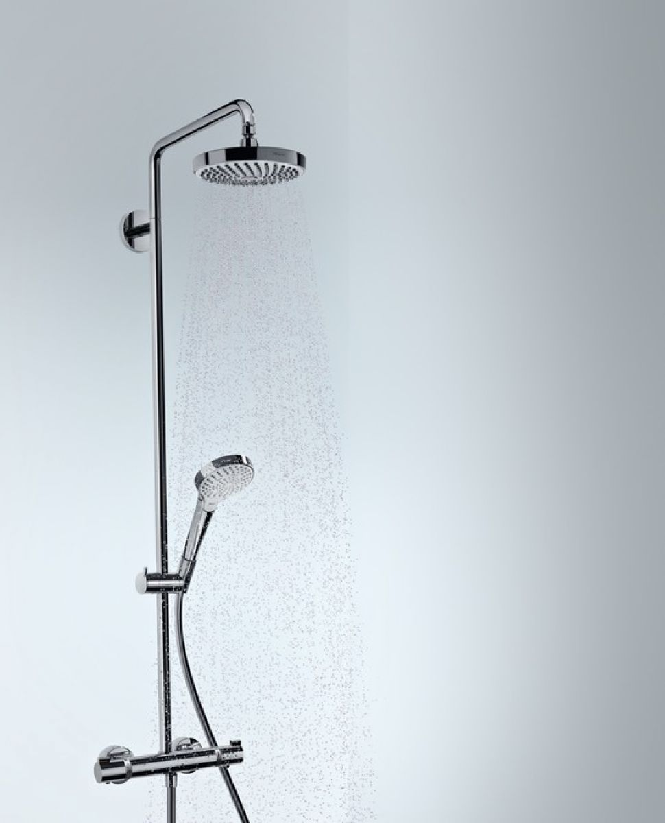 hansgrohe croma select s 180 2jet showerpipe set uk bathrooms. Black Bedroom Furniture Sets. Home Design Ideas