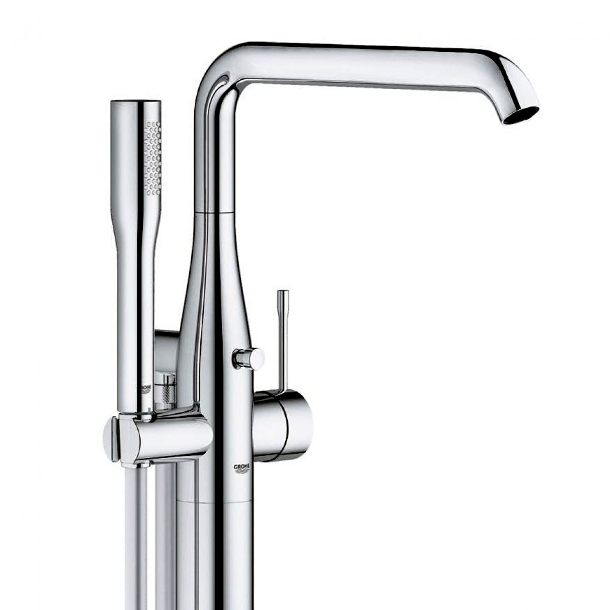 Grohe Essence Floor Standing Bath Mixer with Shower Set : UK Bathrooms