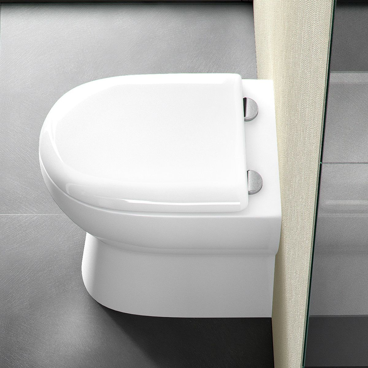Britton Compact Back To Wall Toilet : UK Bathrooms