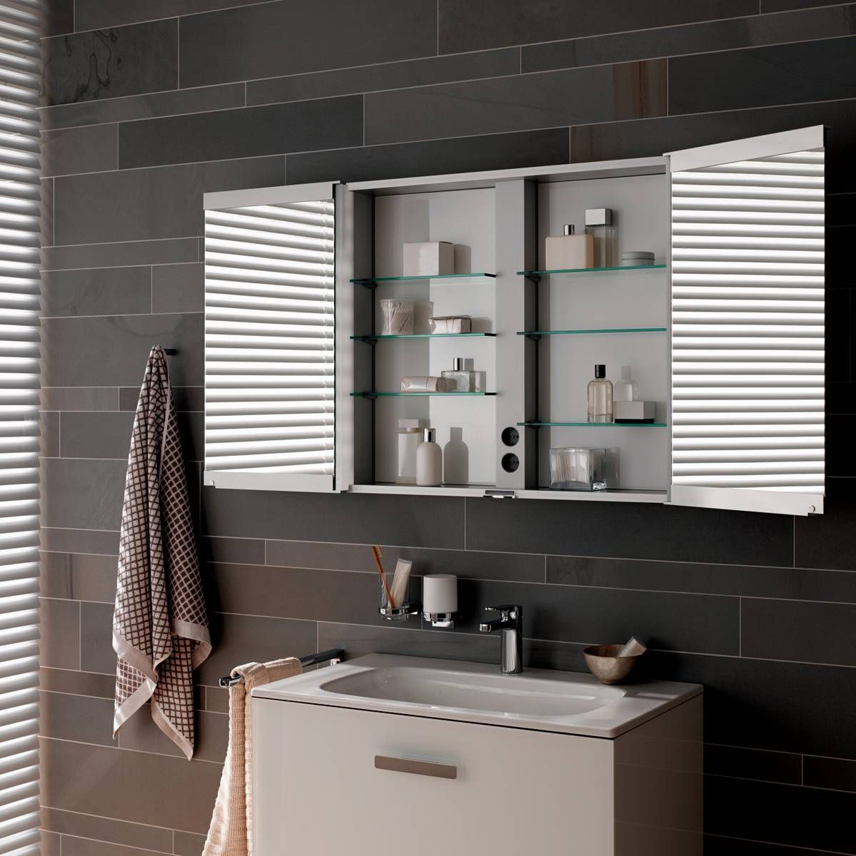 Keuco royal match mirror cabinet uk bathrooms for Bathroom cabinets uk
