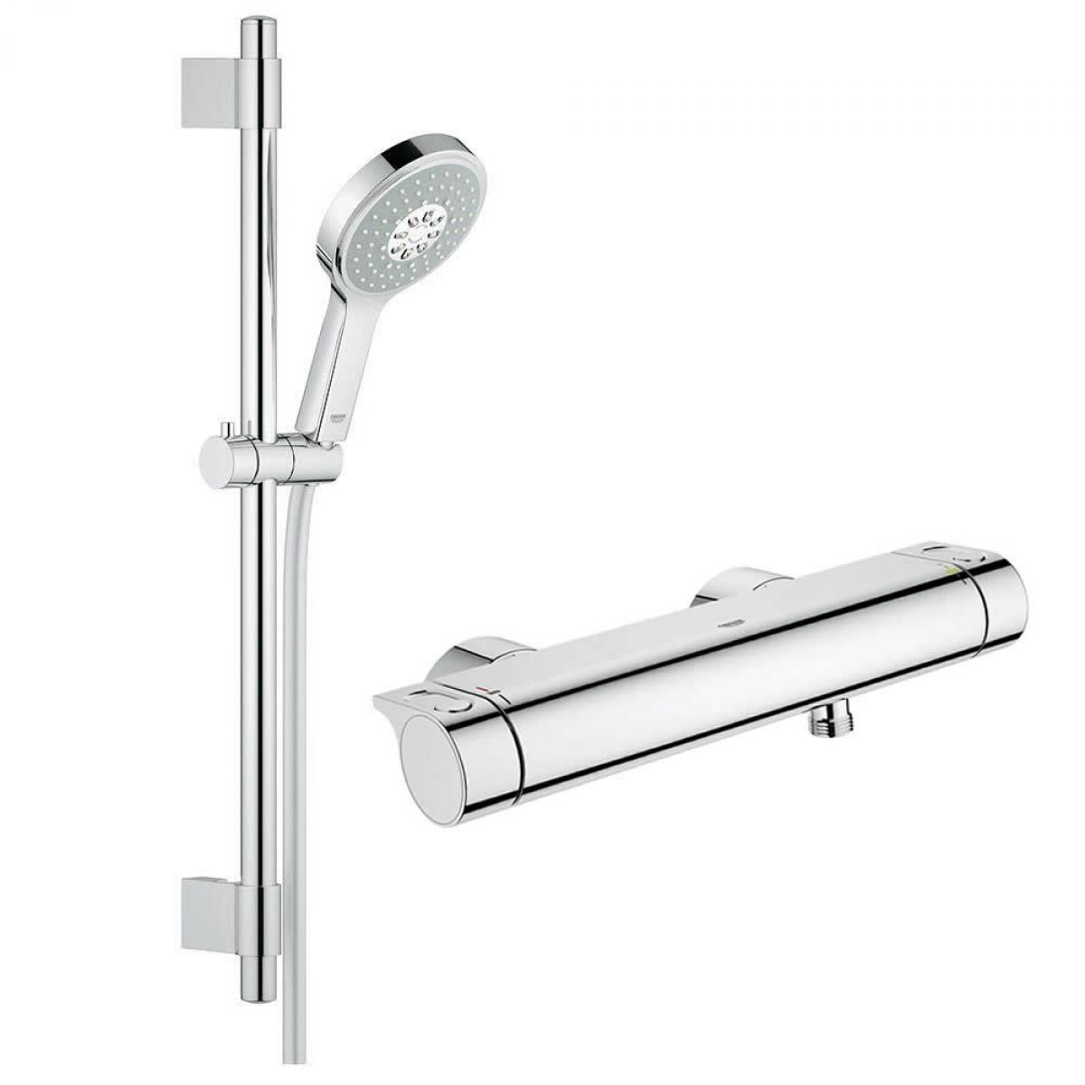 Grohe Grohtherm 2000 Perfect Shower Set.Grohe Grohtherm 2000 Thermostatic Shower Mixer With Power Soul Cosmopolitan Shower Set