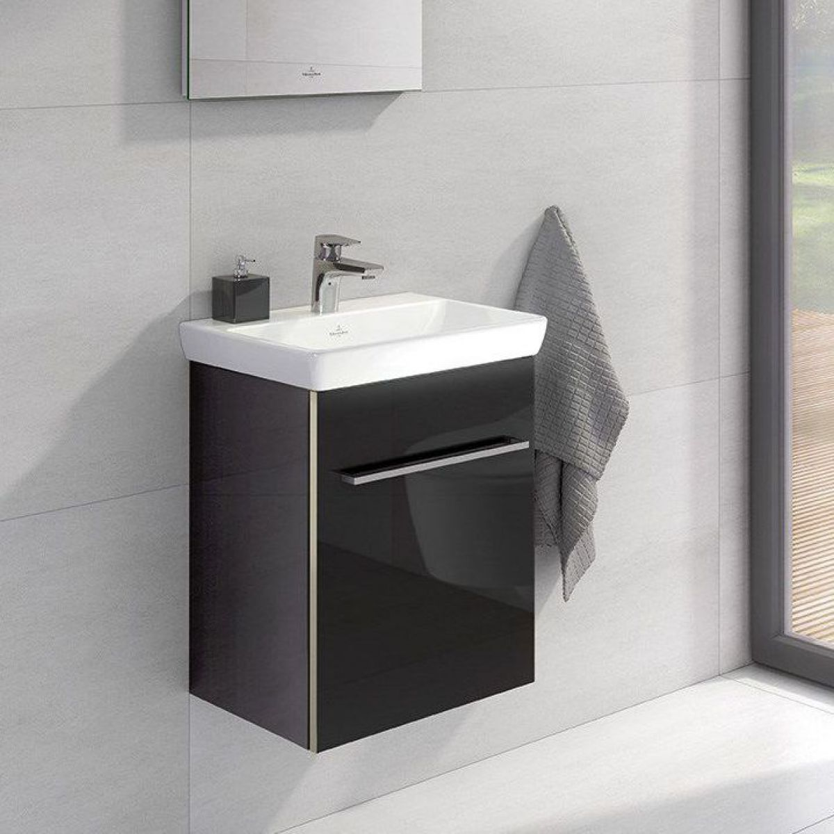 villeroy boch avento single door vanity unit basin uk bathrooms. Black Bedroom Furniture Sets. Home Design Ideas