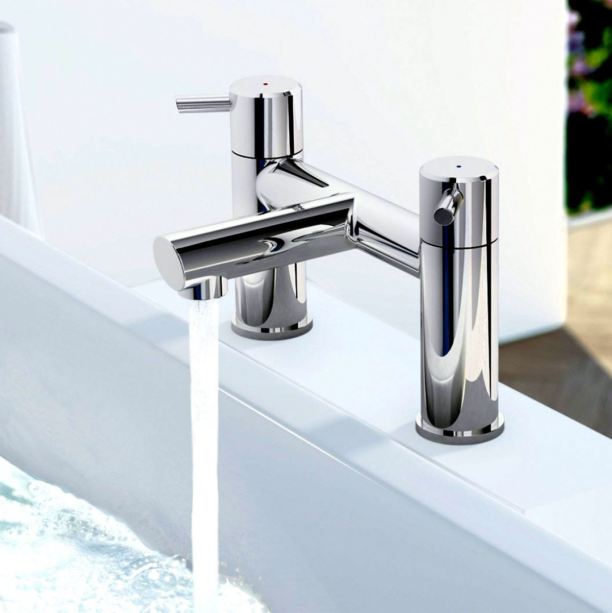 picture of a bath mixer tap
