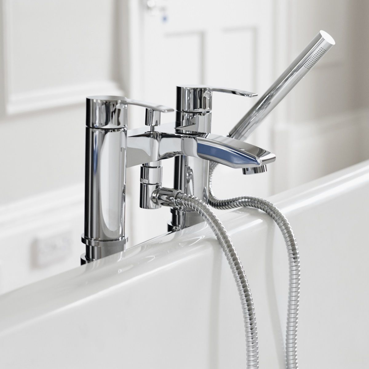 Britton Sapphire Floor Mounted Bath Shower Mixer : UK Bathrooms