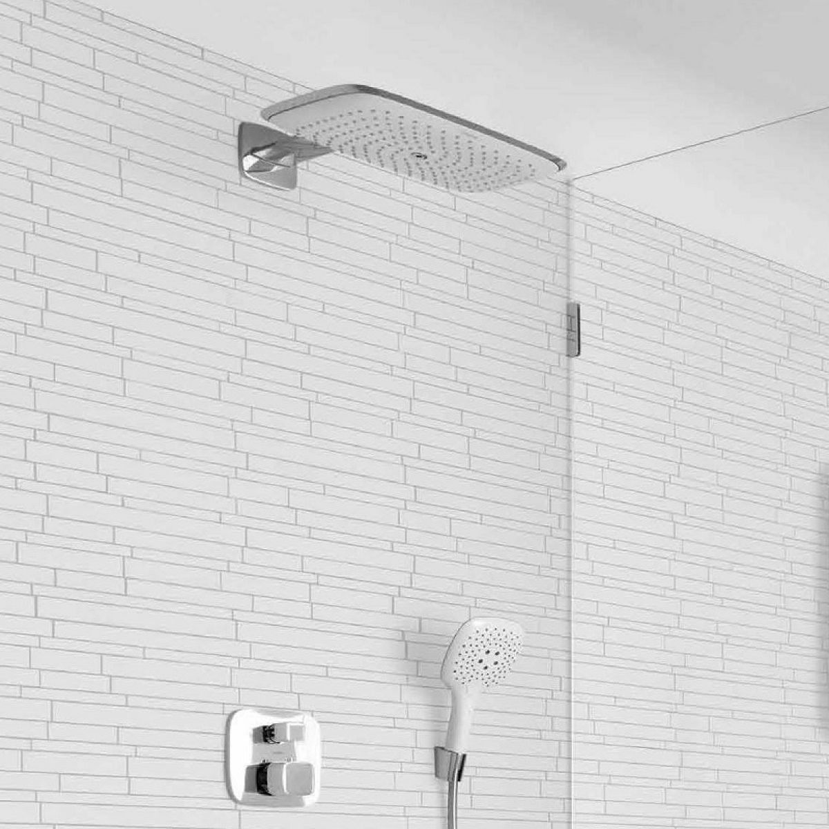 hansgrohe puravida 400 air overhead shower uk bathrooms. Black Bedroom Furniture Sets. Home Design Ideas