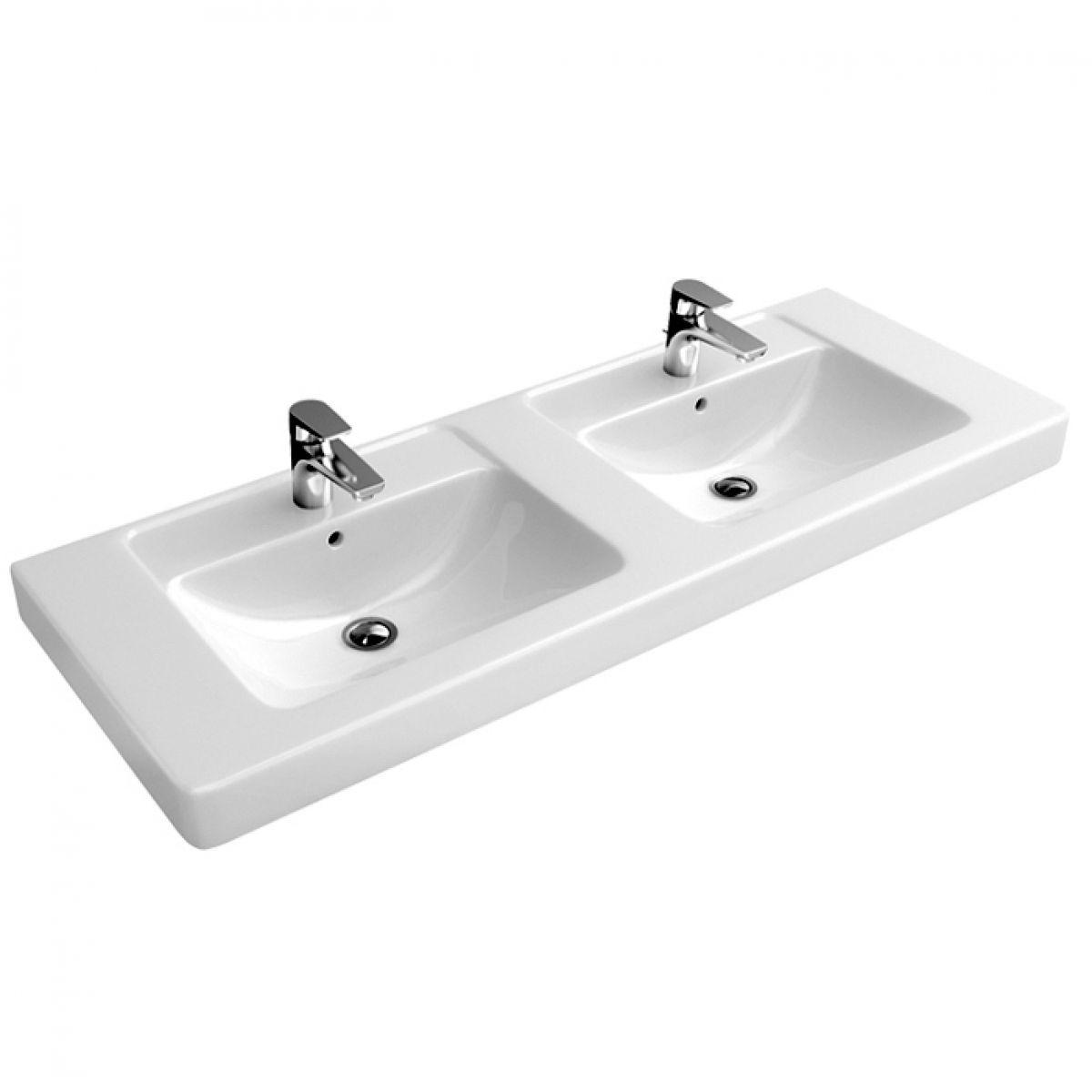 Abacus Simple Double Bathroom Basin 130cm