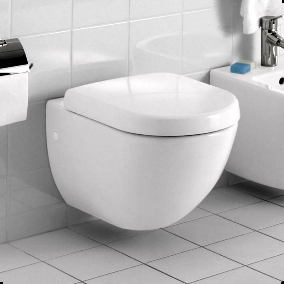 Abacus Bathrooms Simple Compact Wall Hung Toilet Uk