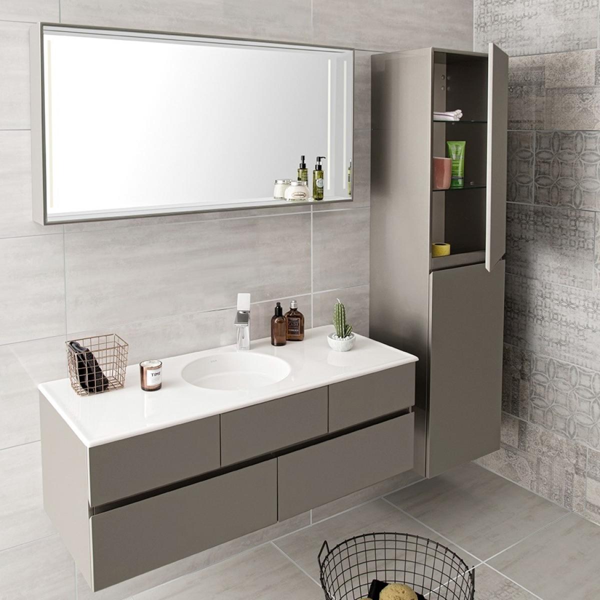Vitra Memoria Vanity Unit, Circular Bowl, 1200mm : UK Bathrooms